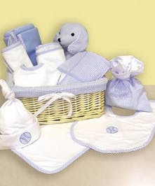 12 Piece Baby Boy Basket