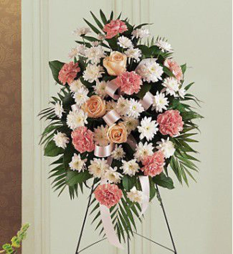 Hollywood Fl Funeral Flowers Soft Tribute Easel Spray Als Florist