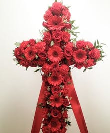 A gorgeous sympathy cross