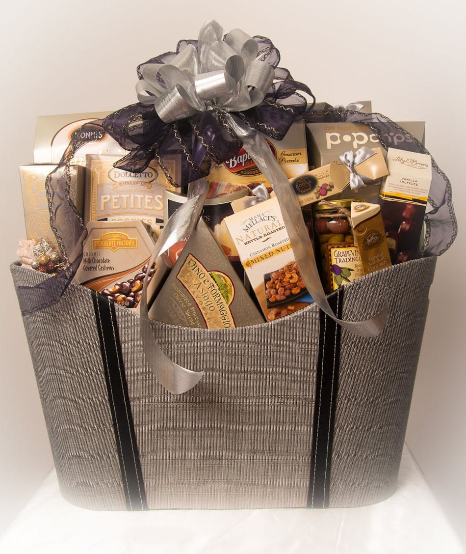Elegant Gift Basket Weve Ever Seen And Thats To Say Nothing Of Whats Inside A Collection Of Gourmet Snacks That Will Appeal To All Tastes Nestles