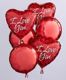 I Love You Mylar Balloon Bouquet