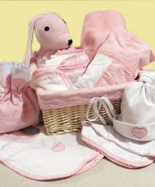 12 Piece Baby Girl Basket