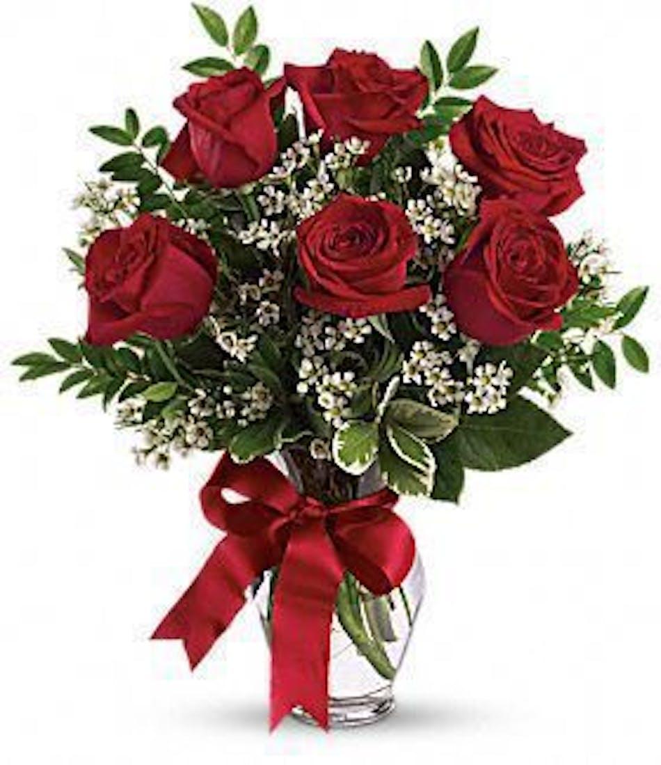 hollywood fl valentine s day flowers half dozen red roses same