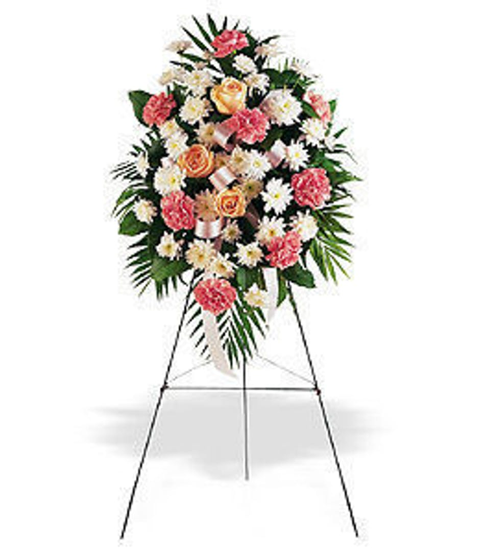 Hollywood Fl Funeral Flowers Gentle Thoughts Easel Spray Als
