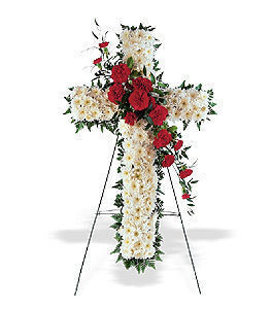 Hope honor floral funeral cross als florist hollywood izmirmasajfo