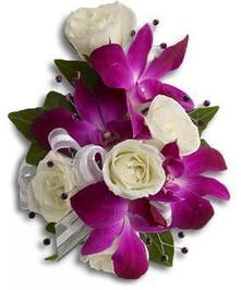Orchid & Spray Rose Corsage