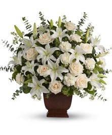 Loving Lilies & Rose Bouquet - Sympathy Flowers Hollywood, Florida