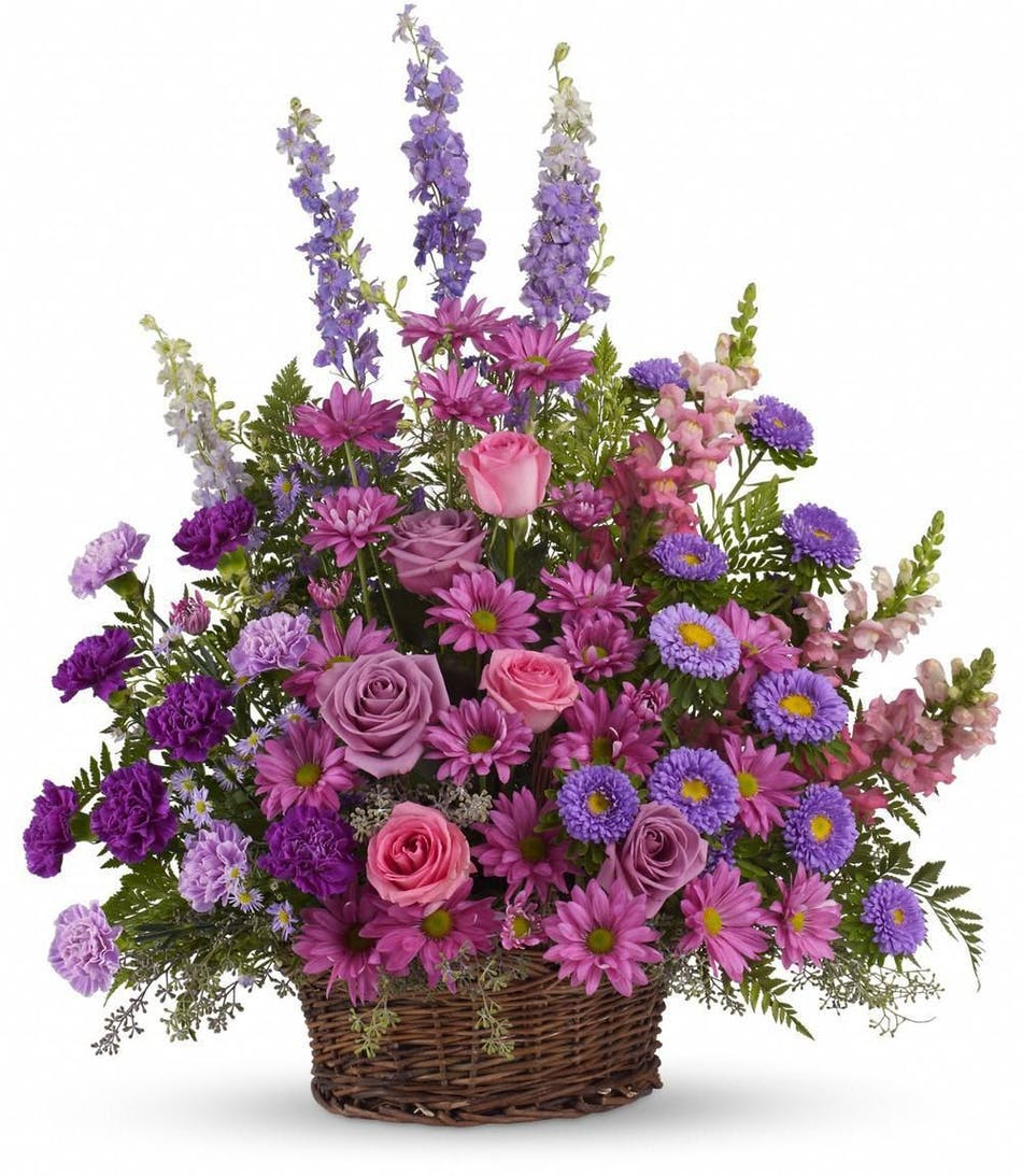 Hollywood Fl Funeral Flowers Lavender Basket Als Florist