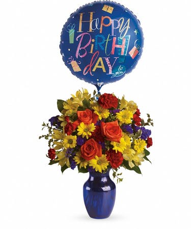 Birthday Flowers Balloon Bouquet